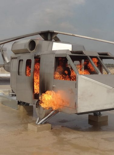 Helicopter Fire Prop