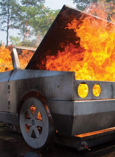 Car Fire Prop