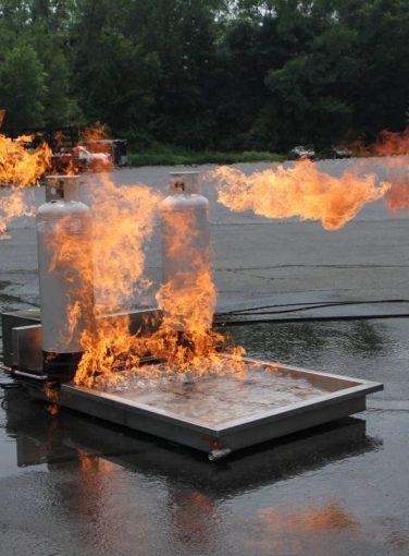 LPG Cylinder Fire Prop