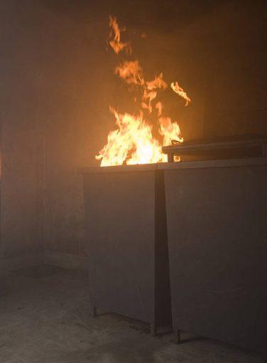 Wheelie Bin Fire Prop
